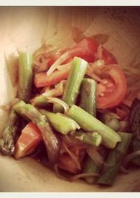 トマトとアスパラのさっぱりマリネ風サラダ