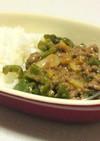 簡単美味しいっピーマンの味噌ニンニク丼