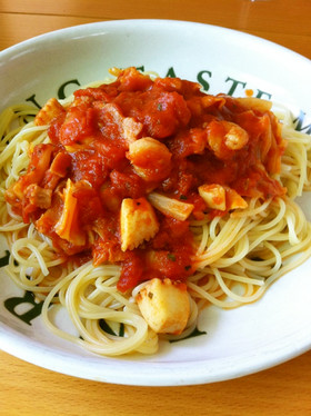 Yeah!シーフードトマトスパゲティ