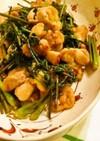 鶏と山菜のガーリック炒め