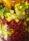 ベトナム風★島唐辛子と香菜の食べるラー油