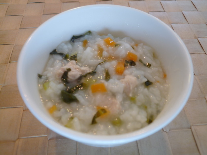 炊飯器で簡単離乳食☆ささみと野菜のおかゆ