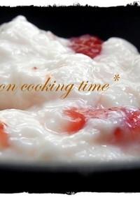 りんご酢で手作りフルーチェ