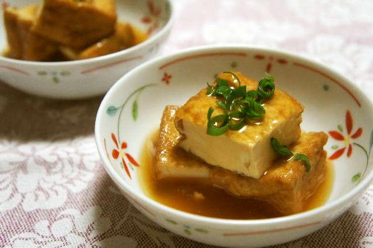 厚 揚げ で 揚げ 出し 豆腐