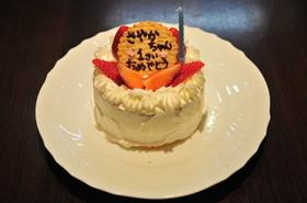 お誕生日ケーキのプレート