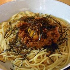 2004.5.23 創作冷製パスタ(たたき納豆,たたき梅)
