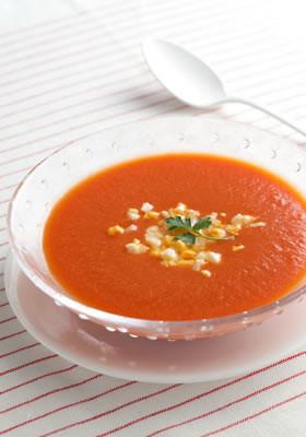 ガスパチョ風冷製スープ