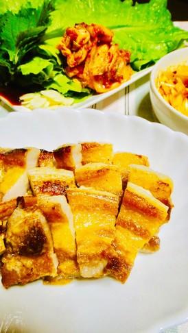 簡単韓国焼き肉フライパンでサムギョプサル
