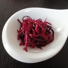 紫キャベツの韓国風酢の物。