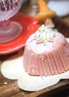 電子レンジで簡単♪苺の蒸しケーキ