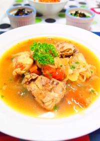 鶏肉のビールスープ