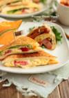 マヨ玉子とトマト&チーズのホットサンド♪