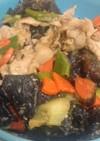 きくらげと野菜の豚肉味噌炒め