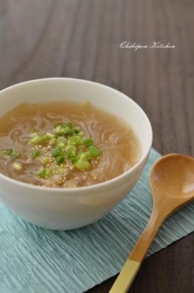 もやしと春雨のサンラータン風スープ☆