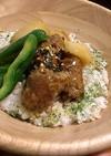 すき焼き風味のつくね丼(クラコット入り)