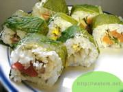 ビエトラでイタリア野菜の巻き寿司の写真