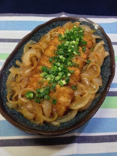 美味しいよ!厚揚げの甘酢生姜焼き