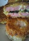 魚肉ソーセージのしそチーズカツ