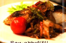 鯛の塩焼き野菜あんかけ、20分