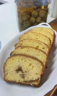 HM使用☆梅酒の梅でパウンドケーキ☆