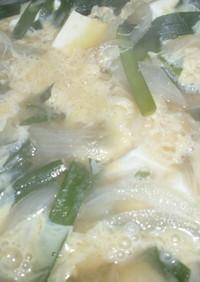 ニラ卵豆腐玉ねぎをお味噌汁の具に※覚書用
