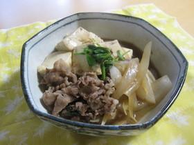 子供完食☆旬の新玉ねぎをたっぷり!肉豆腐
