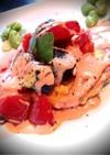 彩り夏野菜のせ豆腐ハンバーグ