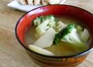 ブロッコリーとじゃが芋の味噌汁