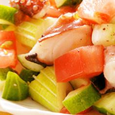 タコとトマトとセロリのシンプルサラダ☆
