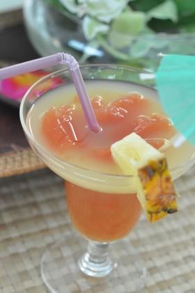 マンゴー酢とトマトジュレドリンク