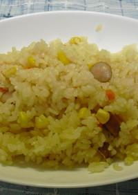 ラーメンスープで炒飯Ⅱ(炊飯器で)