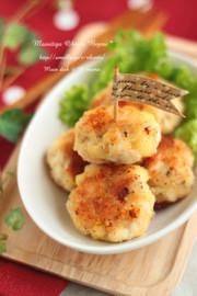 ざく切りチキンとチーズの丸め焼き♪の写真