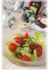 セロリとトマトのレモンマリネサラダ