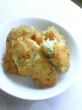 お弁当に簡単★鶏むね肉のチーズパン粉焼き