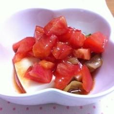 トマトとザーサイの冷ややっこ