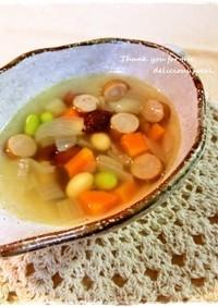*ころころお豆と野菜のヘルシースープ*