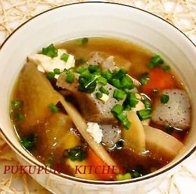 お豆腐♪鶏肉♪干し椎茸♪けんちん汁