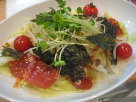 マグロとキムチのサラダ、韓国風
