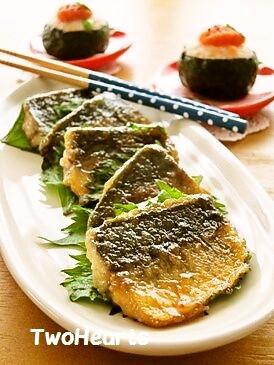 お弁当に❤鯵noかば焼き風