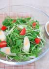 チーかまと水菜のサラダ