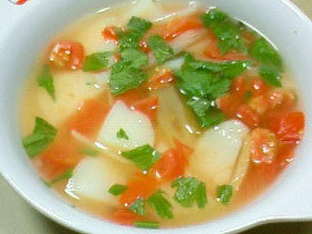 セロリ トマト スープ