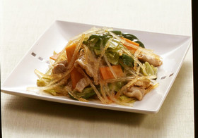 糸寒天と豚肉の野菜炒め