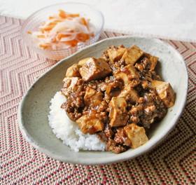 子どもも食べやすい!玉ねぎの麻婆豆腐丼