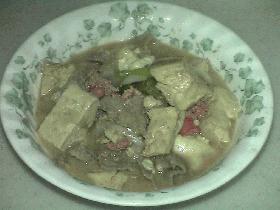 明太肉豆腐