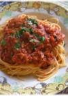 缶詰で簡単!ツナトマトソーススパゲッティ