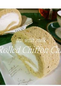 ふわんフワン❀紅茶のロールシフォンケーキ