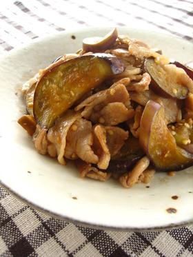 豚肉と茄子の黒酢オイスター炒め
