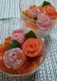 お祝いに☆バラのお寿司