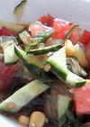 ところてんと夏野菜♪