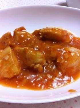 レンジで作る鶏むね肉のチリソース